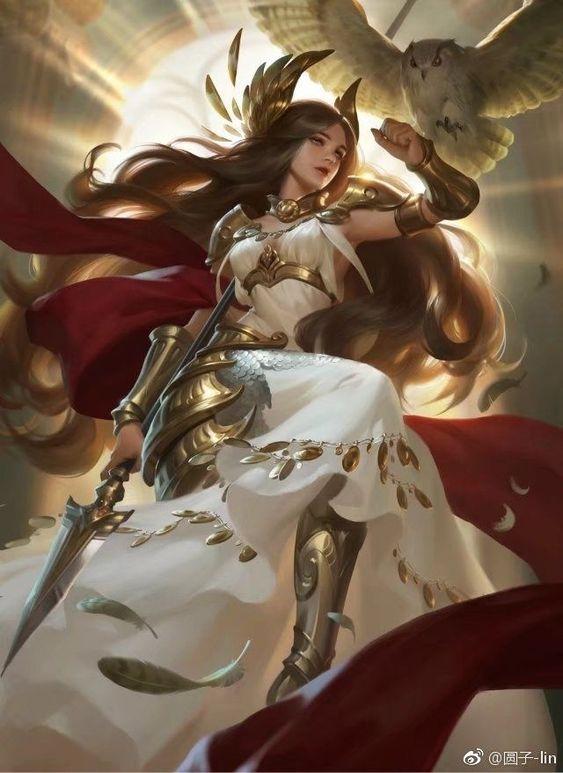 Athena là nữ thần đại diện cho trí tuệ và chiến tranh.