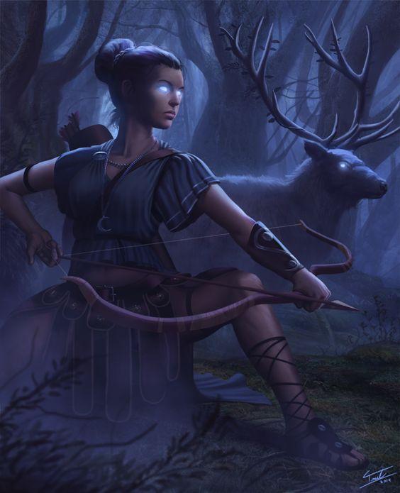 Nữ thần thợ săn Artemis bảo hộ chòm sao Nhân Mã.
