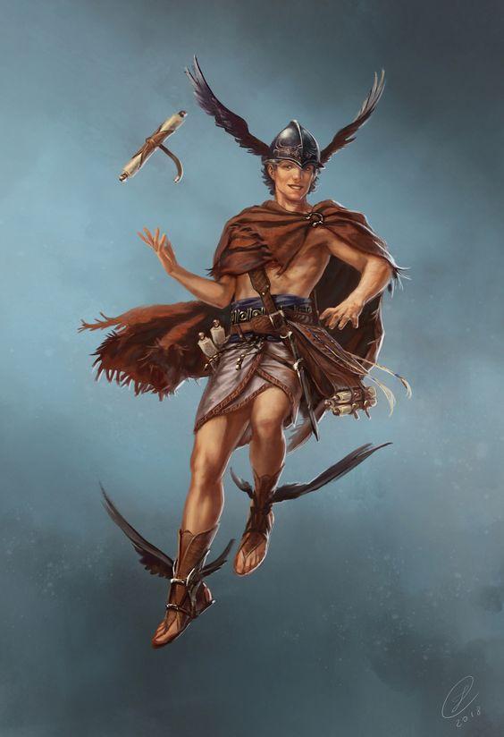 Sứ giả đưa tin của đỉnh Olympia – Hermes.