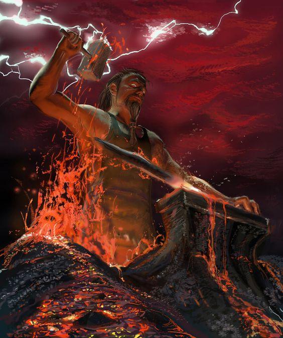 Thần Thợ rèn Hephaestus.