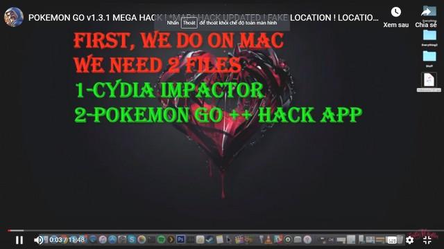 Hack map pokemon cho mac sẽ cần tải 2 file như trên